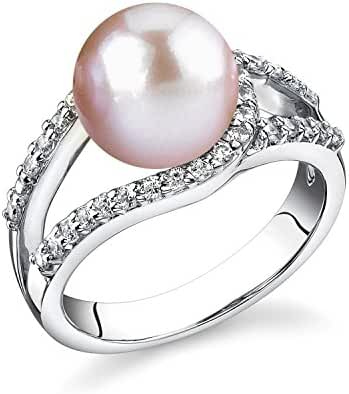 9mm Pink Freshwater Cultured Pearl Tessa Ring