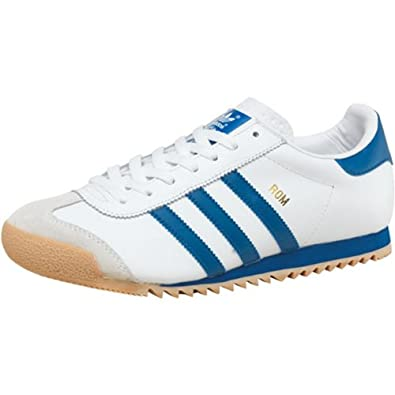 Mens adidas Originals Rom Trainers White/Blue/Gum Guys Gents (7 UK 7