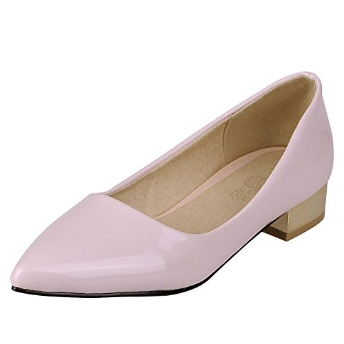 Charm Foot Womens Comfort Pointed Toe Low Heel Pump Shoes Light Pink AkQCN