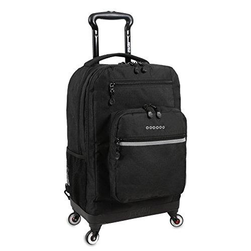 J World New York Moonslider Spinner Backpack Fashion, Black One Size