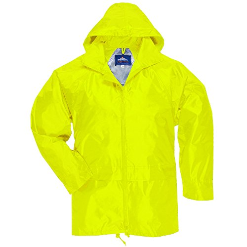Yellow Colour - Portwest Classic Rain Jacket, Small to XXL, 3 colours - Yellow - L
