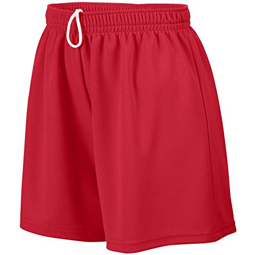 Augusta Sportswear Teen-Girls Wicking Mesh Short, Red, Small