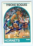 Muggsy Bogues autographed basketball card (Charolte Hornets) 1989 NBA Hoops #218