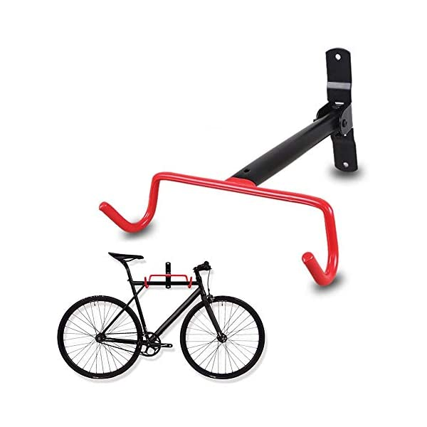 N/P Gancio per Bici da Parete, portabiciclette Pieghevole - Gancio per portabici da Bicicletta per Garage con Viti (1… 1 spesavip