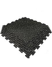 """2' X 2' X 1/4"""" (6mm) Gator Rubber Flooring Interlocking Tile - 6 Tiles/Pack (24SF)"""