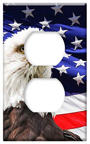Switch Plate Outlet Cover - Eagle America Flag Bird, used for sale  Delivered anywhere in USA