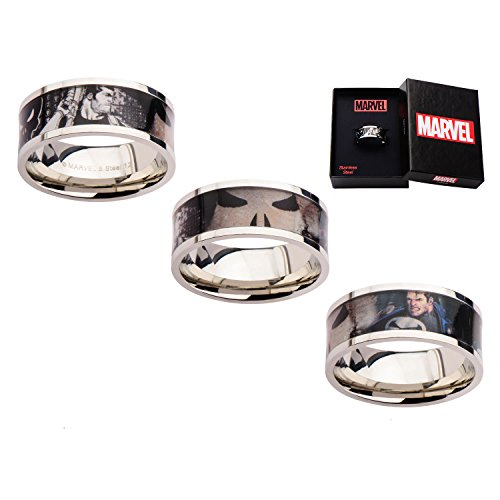 Marvel Punisher Printed Comics Stainless Steel Ring