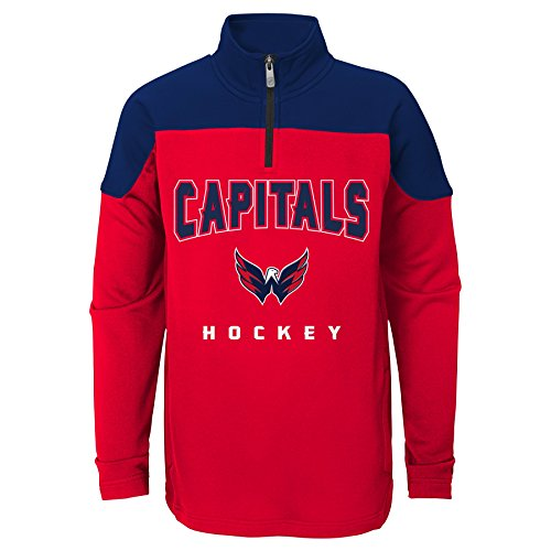 Nhl Washington Capitals Youth Boys Prospect  1 4 Zip  Medium 10 12   Red