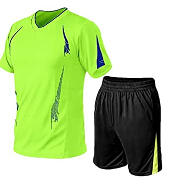 Men Shorts Set Two Piece Tracksuit Outfits Short Sleeve T-Shirt and Shorts Casual Sports Wear 1 2XL