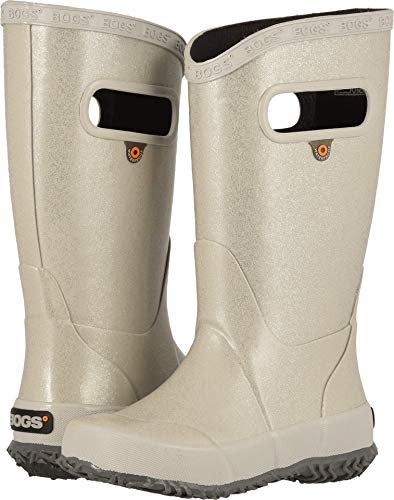 Bogs Kids Baby Girl's Rain Boot Glitter (Toddler/Little Kid/Big Kid) Silver 3 M US Little Kid ()