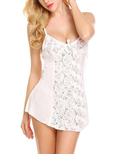 Avidlove Womens Babydoll Lingerie Sexy Lace Chemise Sleepwear Bridal Nightgown