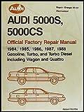 1984-1988 Audi 5000 Bentley Repair Shop Manual