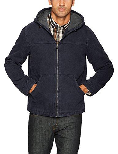 Levi's Men's Cotton Canvas Fleece Lined Hoody Jacket, Navy, X-Large