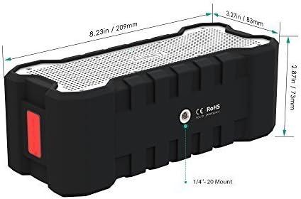 Haut-Parleur Bluetooth Portable sans Fil pour Portable et Tablette AUKEY Enceinte Bluetooth Portable Waterproof IPX7 avec 30 Heures de Lecture