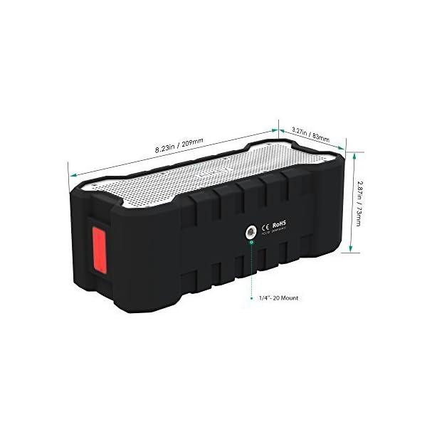 AUKEY Enceinte Bluetooth Portable Waterproof IPX7 avec 30 Heures de Lecture, Haut-Parleur Bluetooth Portable sans Fil pour Portable et Tablette 6