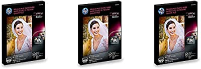 HP Photo Paper Premium Plus, Glossy, (5x7 inch), 60 sheets, (3 Pack)