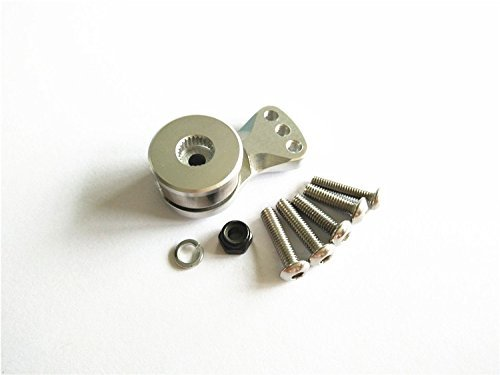 ALUMINIUM SERVO SAVER FOR 25T SPLINE OUTPUT SHAFT AJUSTABLE HI-TORQUE - 1PC Silver Alloy FOR 25T SERVO CrazyRacer