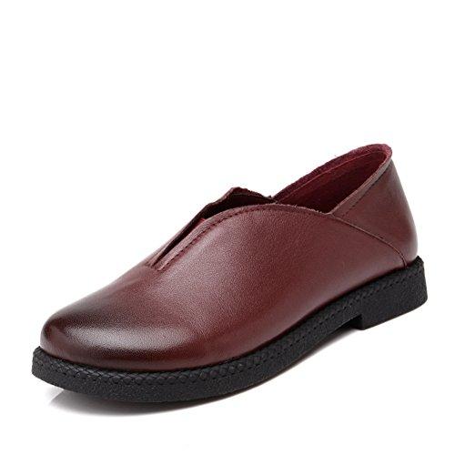Zapatos de primavera/cuñas/Medio étnico y zapatos de las mujeres de edad/Antideslizantes mamá zapatos suaves en el extremo de los ancestros A