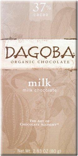 Dagoba Organic Chocolate Bar, Milk Chocolate, 2.83-Ounce Bars (Pack of 12)