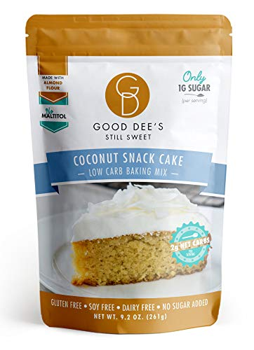 Good Dee's Coconut Snack Cake Mix - Low Carb, Keto Friendly, Diabetic Friendly, Sugar Free, Gluten Free