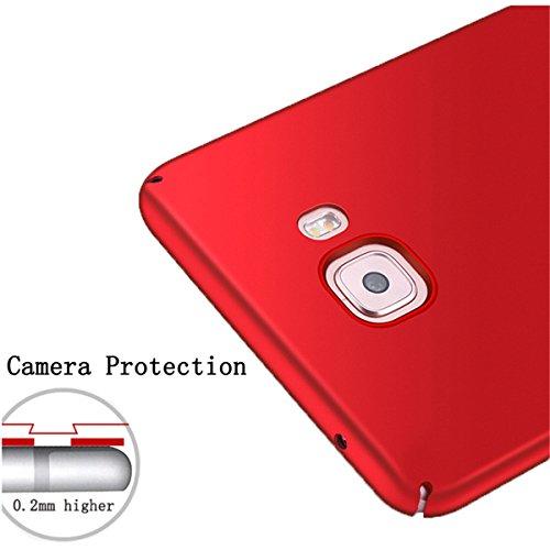 Pro Housse Galaxy Slim Rigide Rouge Pc Ultra Adamark Rose Samsung Shell c9 Étui Anti scratch Coque galaxy Antichoc C9 C9 Or Case Bumper Récurer Protection Cover Back Pour Pro tw55Y7q