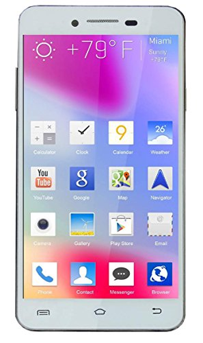 Teeno 4.5 Quad Core High Performance 3G Dual SIM Smart Phone-White Colour