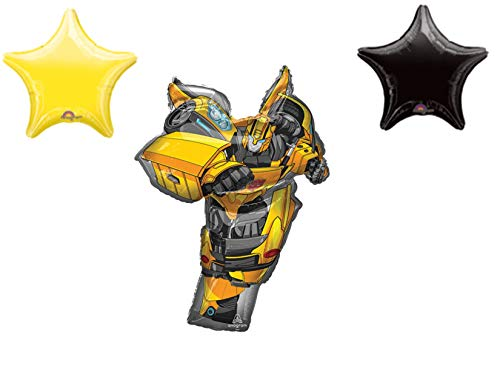Bumblebee Transformers 3 pieces Movie Birthday Party Balloons Decoration]()