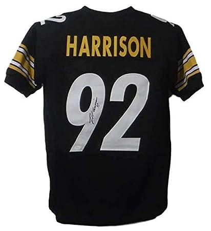 newest 1c682 03027 Autographed James Harrison Jersey - Xl Black 20007 - JSA ...
