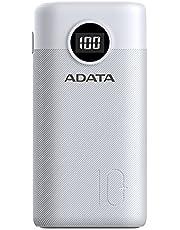 ADATA Powerbank Batería Portátil P10000QCD de Carga Rápida, de 10000 mAh con Pantalla Digital, Color Blanco (Modelo AP10000QCD-DGT-CWH)