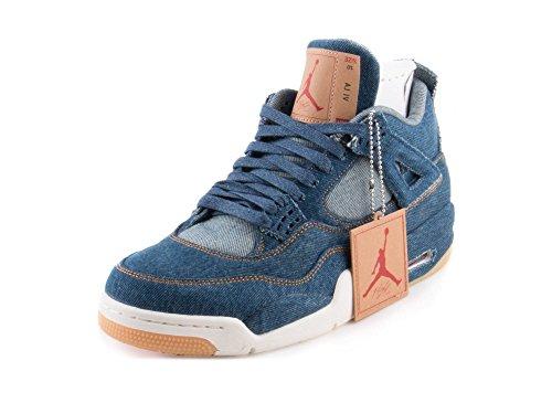 NIKE Mens Air Jordan 4 Retro Levis NRG Denim/Sail/Red Denim Size 8.5