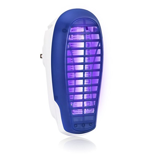 (VENSMILE Indoor Bug Zapper Fly Zapper Killer Mosquito Trap Electric Insect Light Catcher Plugs into Standard Wall Outlet for Home - Safe Way Pest Repellent - Protects 500 Sq.Ft)