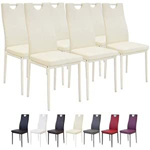 Albatros Milano - Juego de 6 sillas de Comedor, Beis, Modelo ...