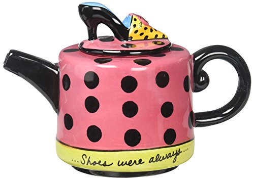 (Appletree Design Shoes On Her Mind Teapot, 4-1/8-Inch)