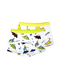 URVIP Boy's Cute Soft Cotton Toddler Briefs Boxers