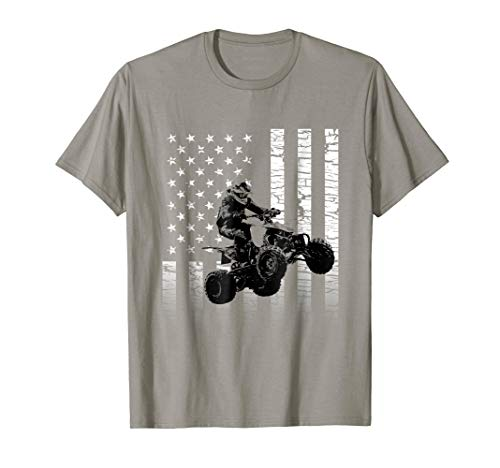 American Flag Graphic ATV/Quad Motocross  T-shirt ()