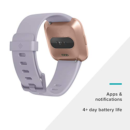 Fitbit Versa Smart Watch, Periwinkle/Rose Gold, Aluminium, One Size (S & L Bands Included) by Fitbit (Image #2)