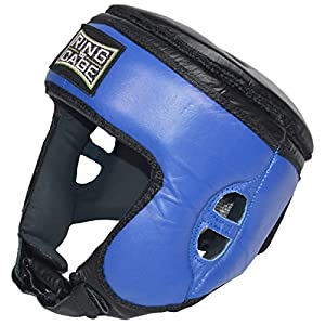 Well-Being-Matters 41T7taRJt6L._SS300_ Ring to Cage Muay Thai Competition Headgear - Blue - for Boxing, Muay Thai, MMA, Kickboxing, Sanshou