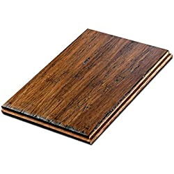 "Cali Bamboo - Solid Wide T&G Bamboo Flooring, Medium Antique Java Brown, Aged - Sample Size 8"" L x 5 3/8"" W x 9/16"" H"