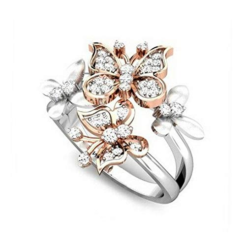 Tomikko 2.3ct Butterfly White Topaz Women 925 Silver Ring Wedding Engagement Size 6-10 | Model RNG - 12849 | 6