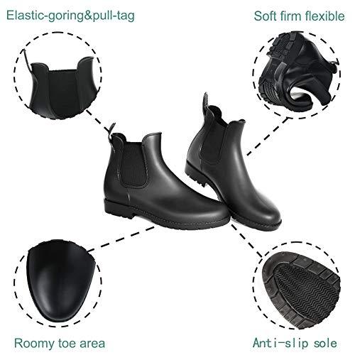babaka Women Rain Boots Waterproof Ankle Garden Shoes Anti-Slip Chelsea Booties