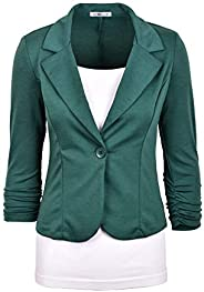 Auliné Collection Women's Casual Work Solid Color Knit Bl