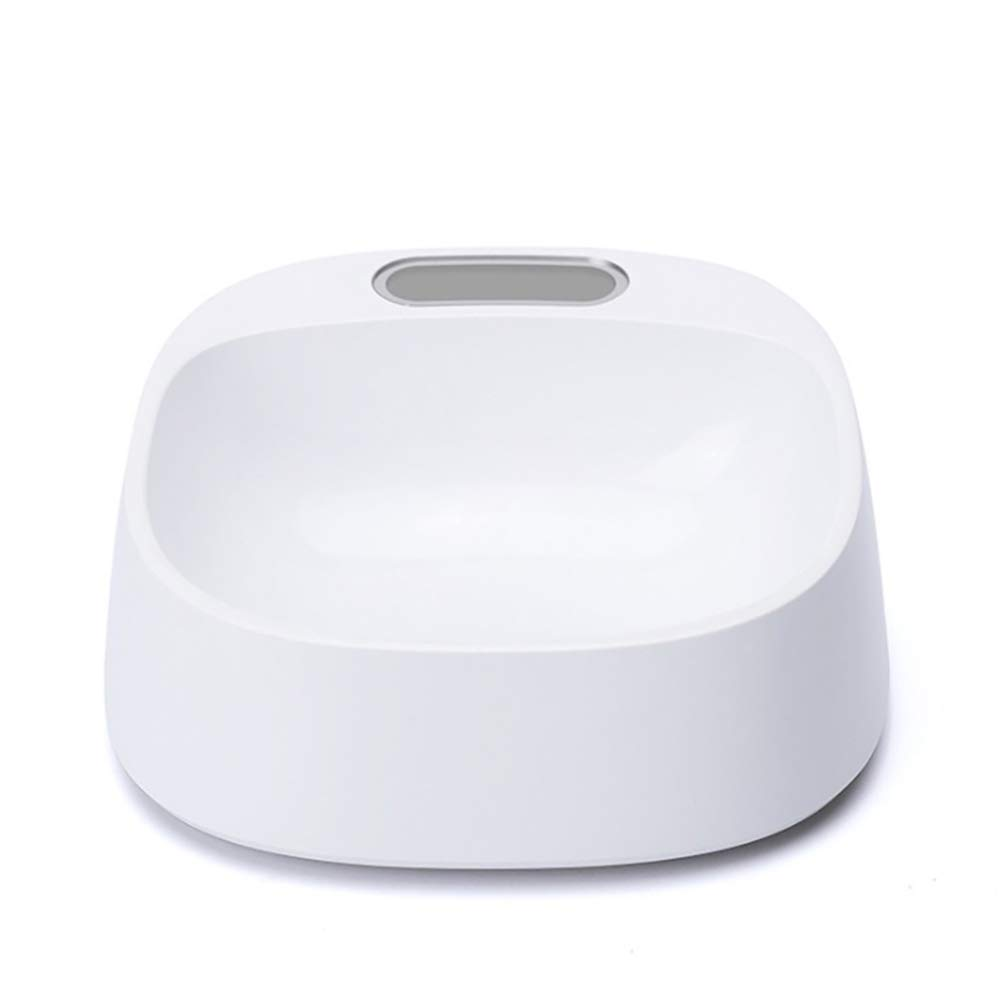 ABS Weighing Pets Feeding Bowl with LCD Screen for Dogs Cats Kitten Electrical Smart