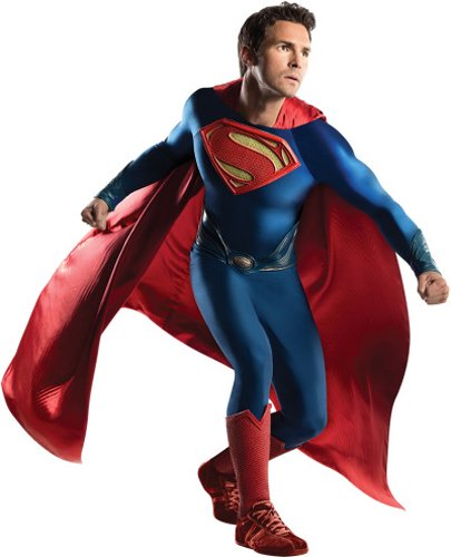 Authentic Man Of Steel Costume (Rubie's Costume Co Men's Superman Man Of Steel Grand Heritage Costume, Multi, One)