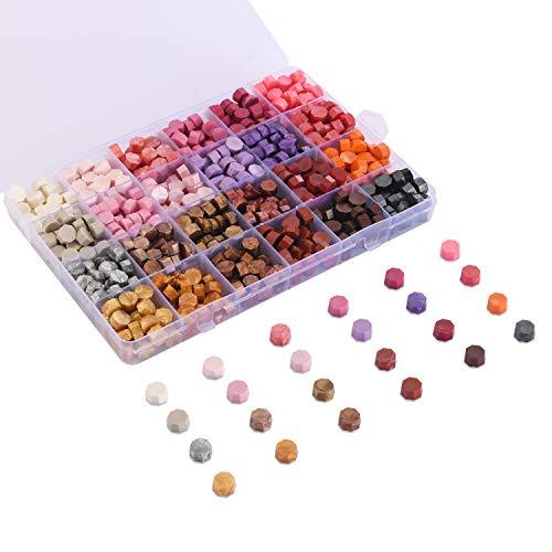 Cera para sellos box 600u. lacrado pink-purple-metallic