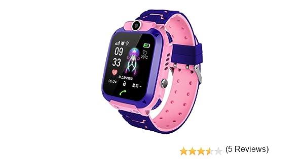 Reloj inteligente con GPS para niños, reloj de pulsera antipérdida, pantalla táctil de 1,44 pulgadas, resistente al agua, para niños, niñas, regalo de cumpleaños: Amazon.es: Electrónica