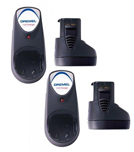 Dremel (2 Pack) 7.2V MultiPro Battery & Charger Combo # 757-01-758-01-2pk