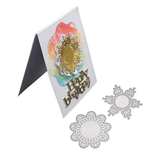 Flower Leaves Cutting Dies Handmade DIY Stencils Template Embossing for Card Scrapbooking Craft