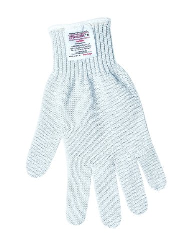 (MCR Safety 9350M Steelcore II Regular Weight 7-Guage Reversible Cut Resistant Gloves, White, Medium)