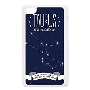 Diy Taurus constellation Phone Case for ipod touch 4 White Shell Phone JFLIFE(TM) [Pattern-5]
