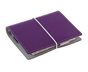 Filofax Domino - Agenda archivador de bolsillo, color morado